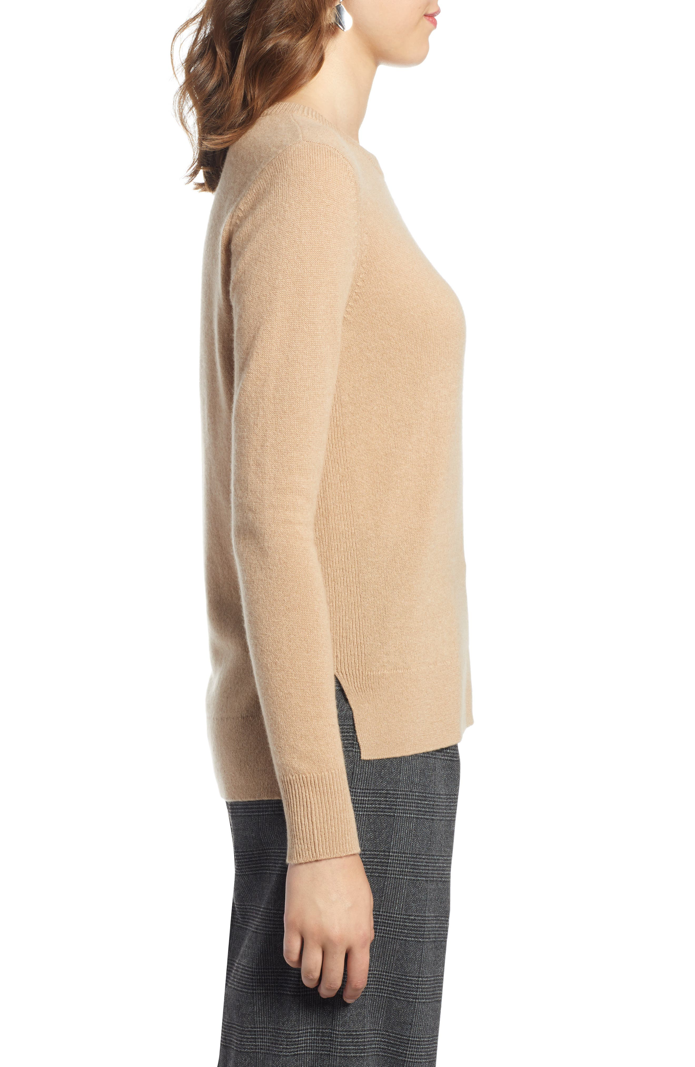 ,                             Crewneck Cashmere Sweater,                             Alternate thumbnail 64, color,                             230