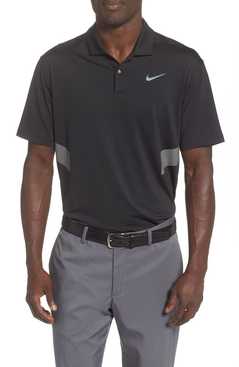 NIKE Dri-FIT Vapor Reflect Polo, Main, color, BLACK/ REFLECTIVE SILVER