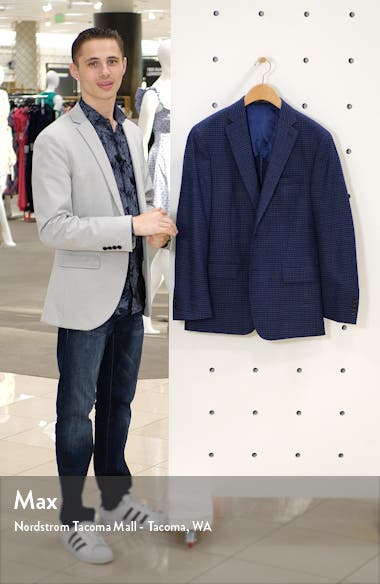 Classic Fit Check Stretch Wool Sport Coat, sales video thumbnail