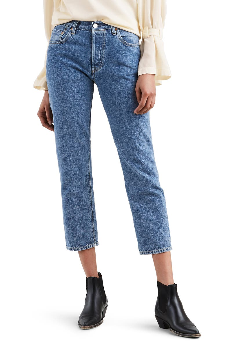 shop for shop for best available 501® High Waist Crop Skinny Jeans