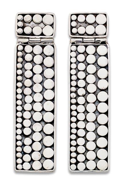 Image of Samuel B Jewelry Sterling Silver Dot Design Bar Drop Earrings