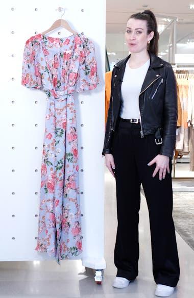 Floral Wrap Maxi Dress, sales video thumbnail