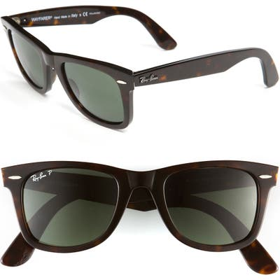 Ray-Ban Standard Classic Wayfarer 50Mm Polarized Sunglasses - Tortoise Polarized