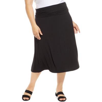Plus Size Bobeau Andie Convertible Knit Skirt, Black