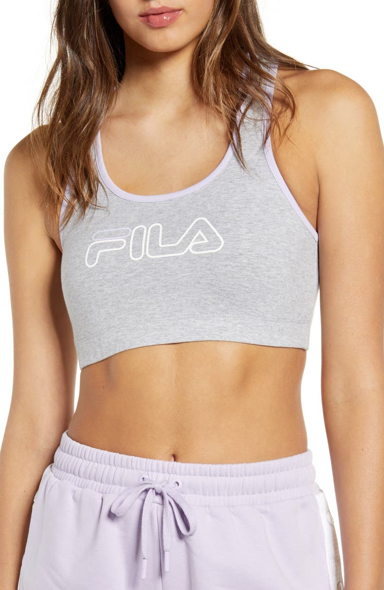 FILA Rebecca Bra Top, Main, color, LIGHT GREY/ PINK CHALK/ WHITE