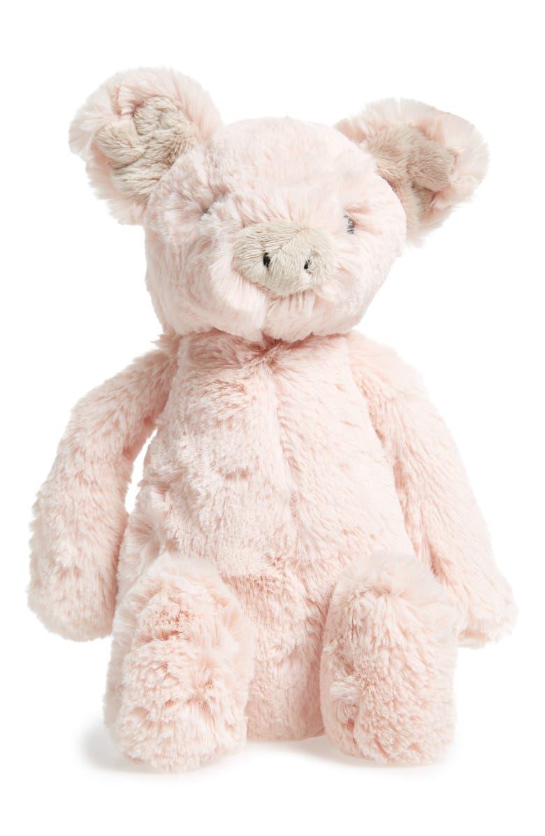 JELLYCAT Bashful Piggy Stuffed Animal, Main, color, PINK