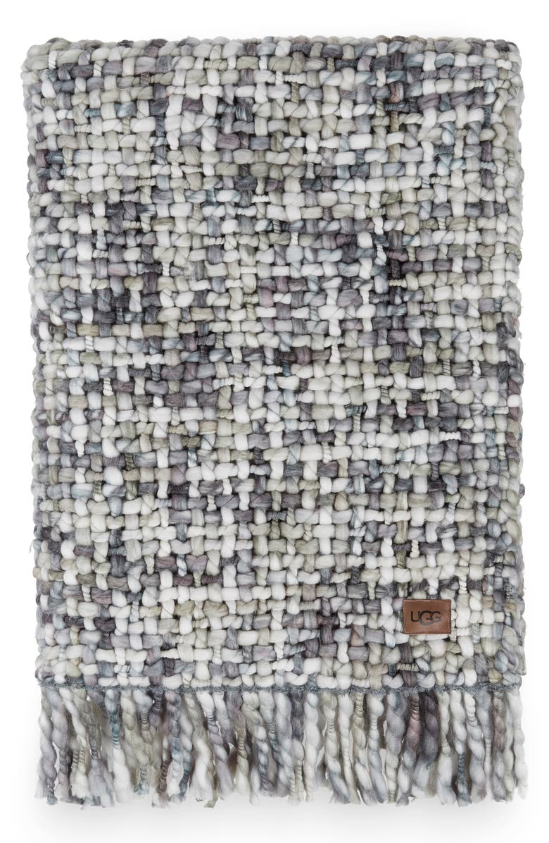 UGG<SUP>®</SUP> Annora Throw Blanket, Main, color, SEAL/ DENIM MULTI