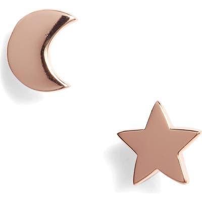 Argento Vivo Moon & Star Stud Earrings