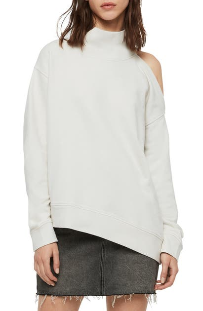 Allsaints T-shirts BRADY SINGLE COLD SHOULDER SWEATSHIRT