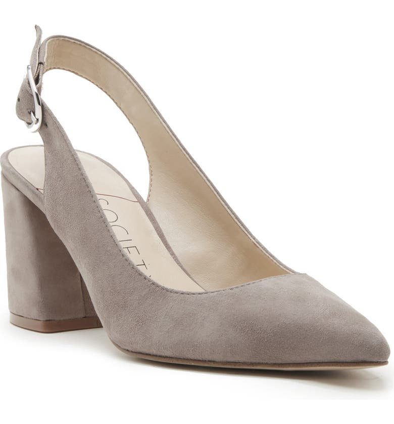 SOLE SOCIETY Trudie Slingback Pump, Main, color, PORCINI/ BROWN SUEDE