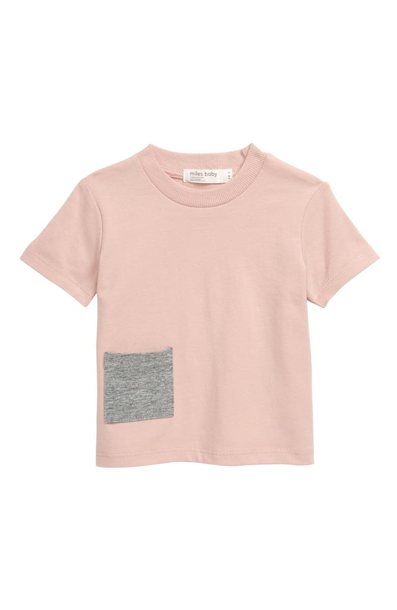 MILES baby Pocket T-Shirt, Main, color, LIGHT PINK