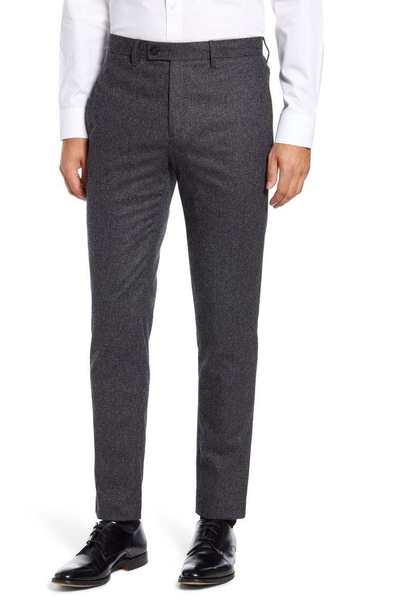 TED BAKER LONDON Padtron Core Slim Fit Dress Pants, Main, color, GREY