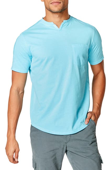 Image of Good Man Brand Split Neck Pocket T-Shirt