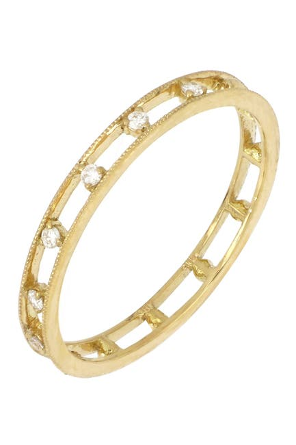 Image of Bony Levy 18K Yellow Gold Scattered Diamond Open Ring - 0.07 ctw