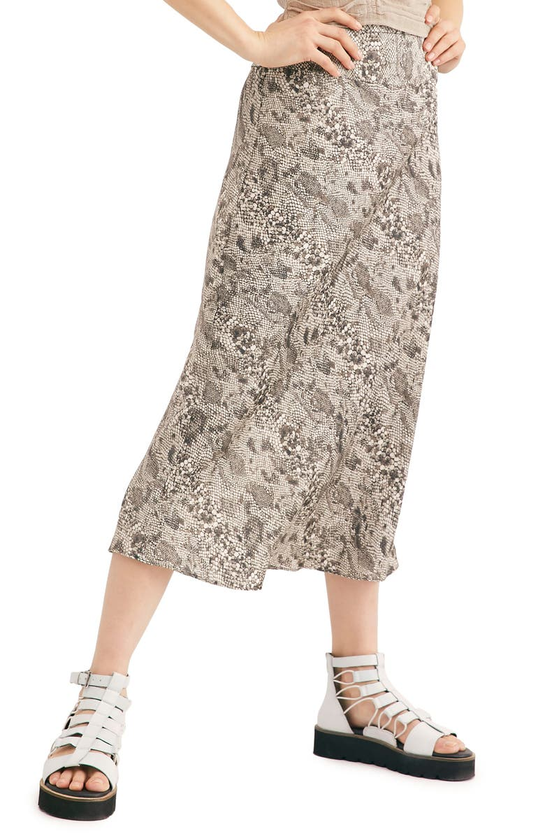 2f3feec82 Normani Leopard Print Bias Cut Midi Skirt, Main, color, GREY COMBO