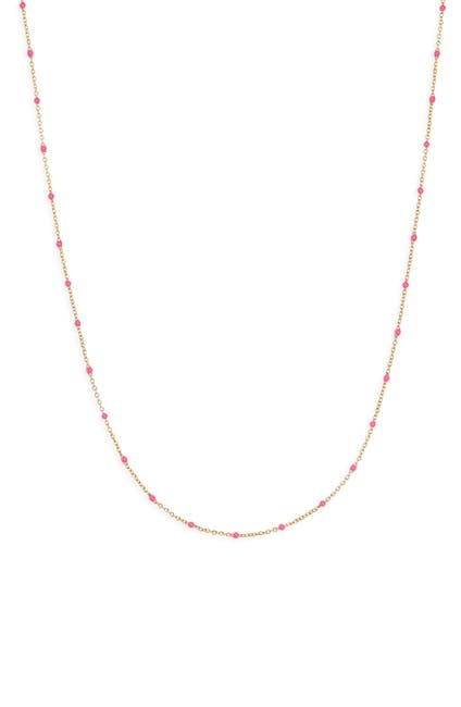 Image of Gorjana Capri 18K Gold Plated Enamel Station Collar Necklace