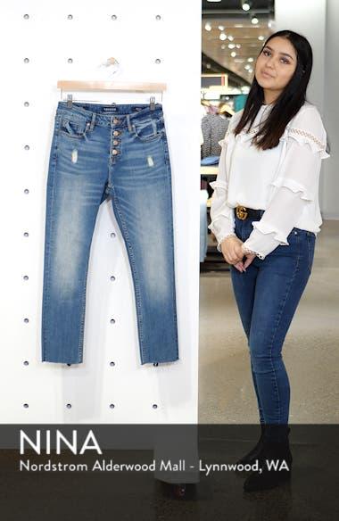 Stevie Distressed Straight Leg Crop Jeans, sales video thumbnail