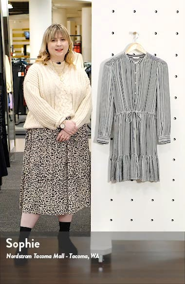 Riley Long Sleeve Shirtdress, sales video thumbnail