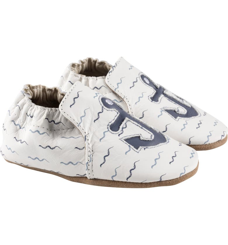 ROBEEZ<SUP>®</SUP> Ahoy Crib Shoe, Main, color, WHITE