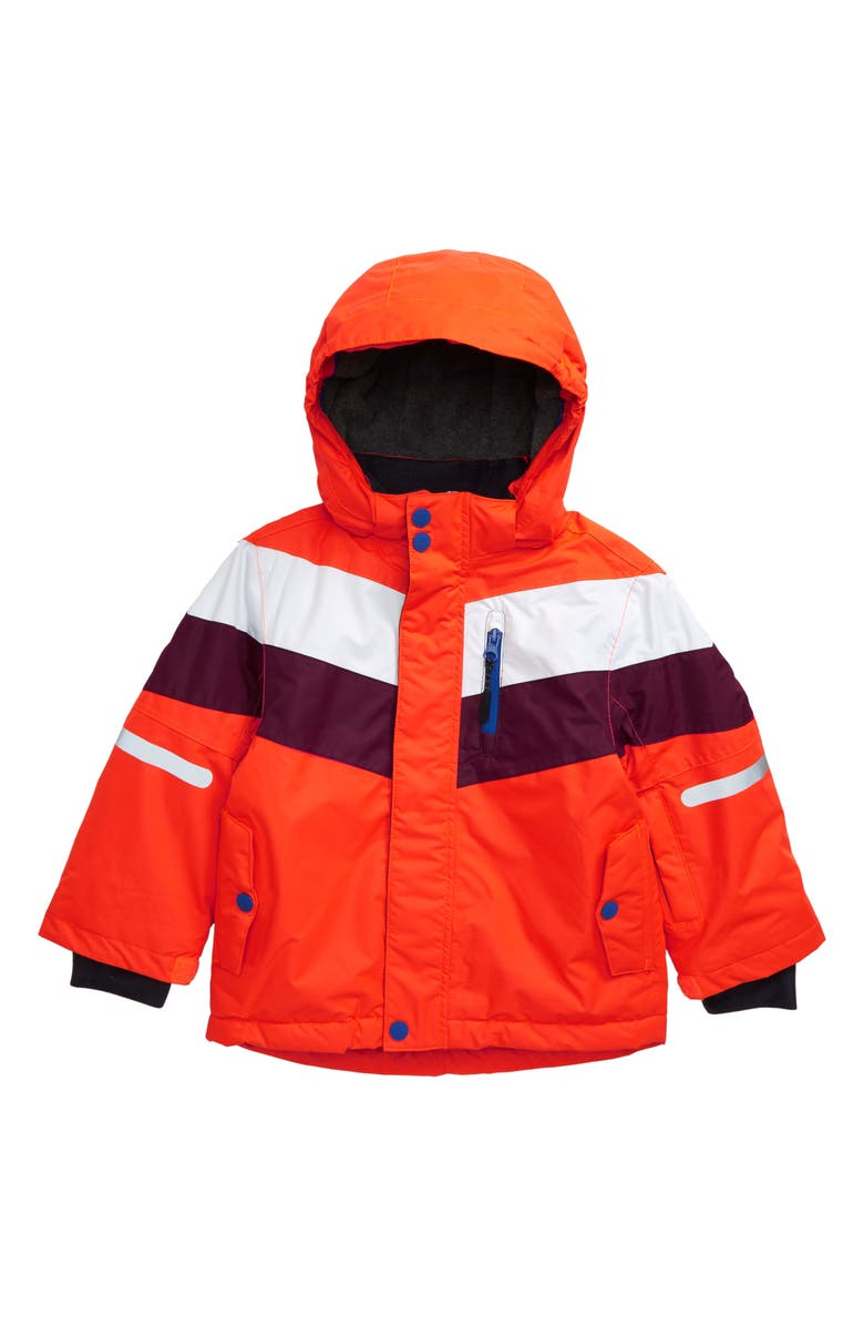 MINI BODEN Waterproof Hooded Jacket, Main, color, 814