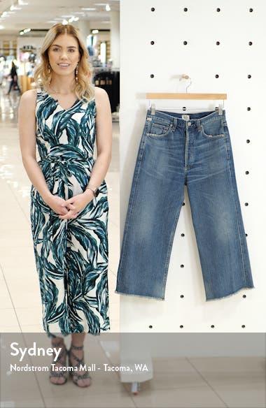 Emma High Waist Crop Wide Leg Jeans, sales video thumbnail