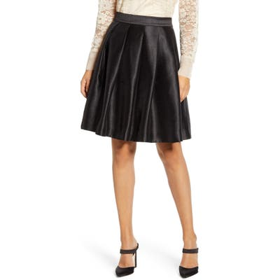 Rachel Parcell Full Twill Skirt, Black (Nordstrom Exclusive)