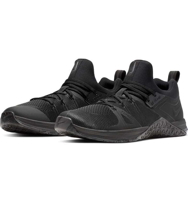 NIKE Metcon Flyknit 3 Training Shoe, Main, color, BLACK/ BLACK/ BLACK