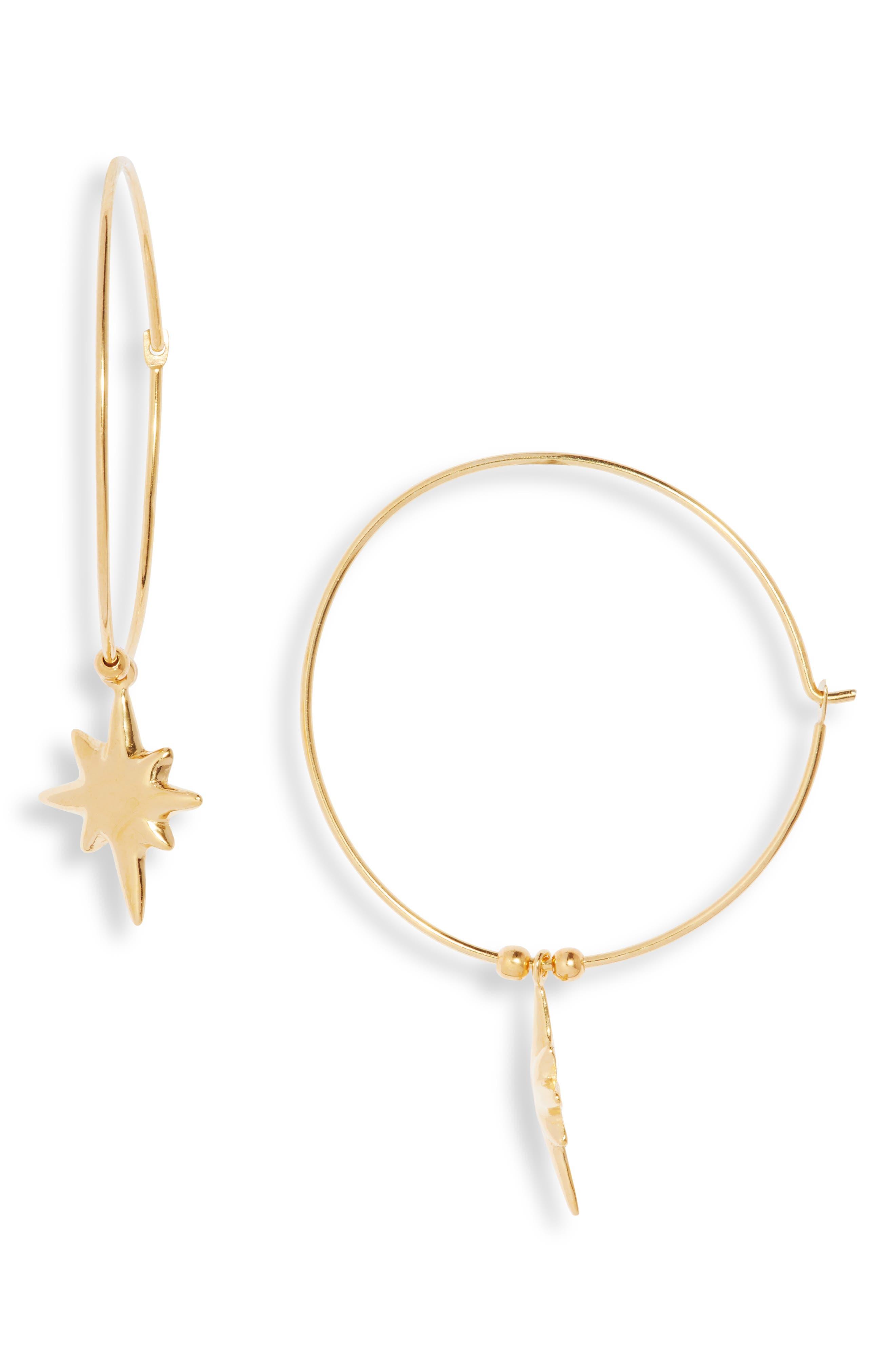 Star Hoop Earrings