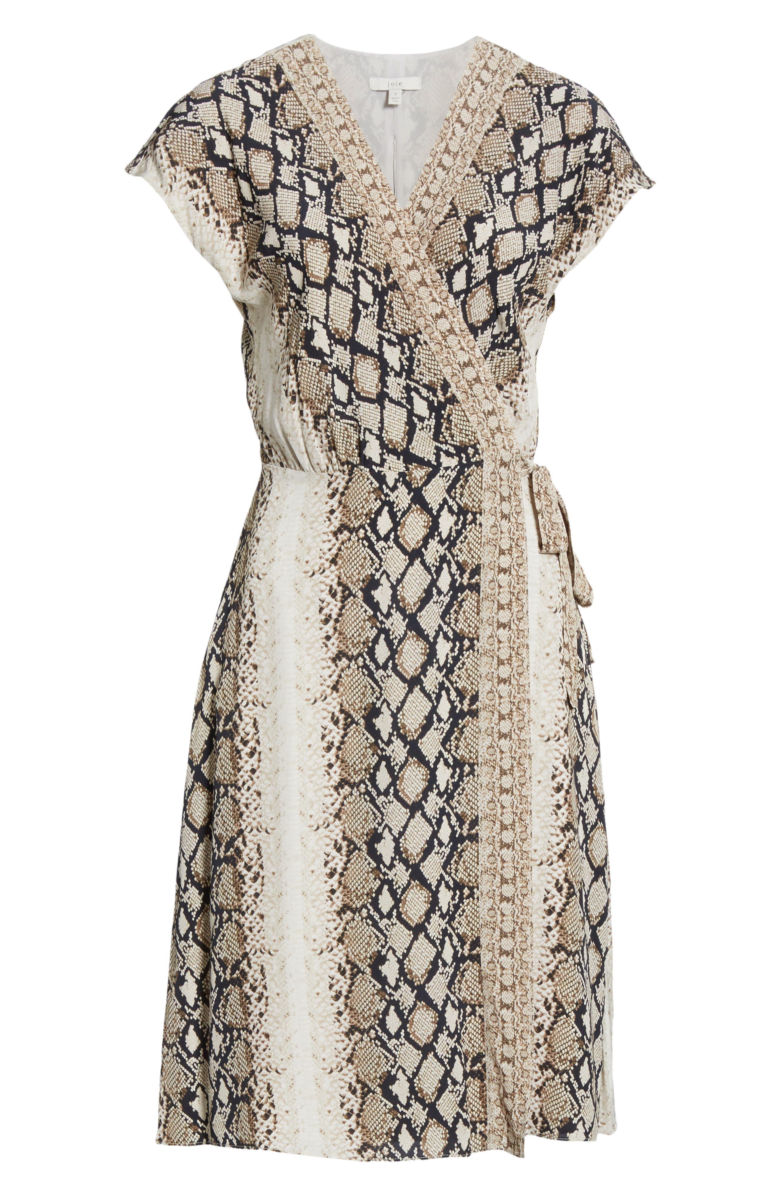 ,                             Bethwyn C Snakeskin Print Wrap Style Dress,                             Alternate thumbnail 13, color,                             900