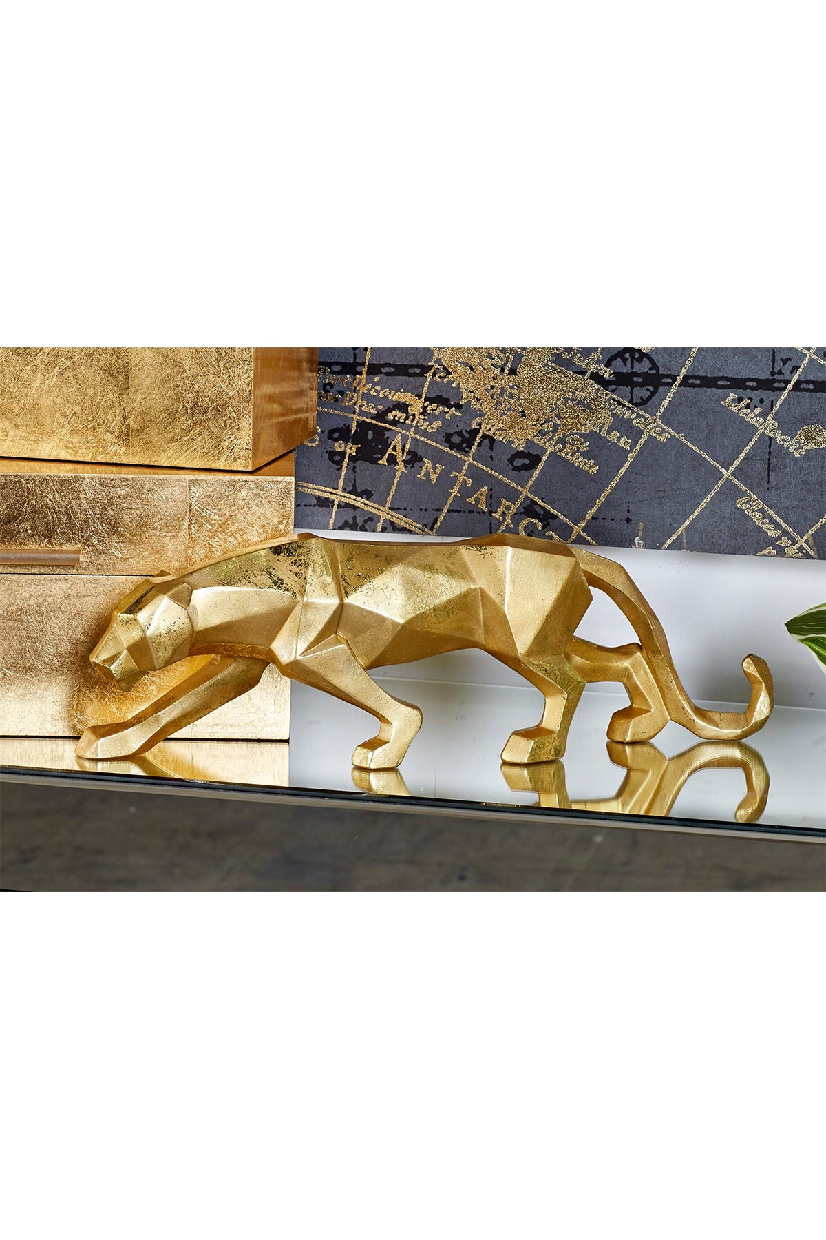 Image of CosmoLiving by Cosmopolitan Gold Leopard