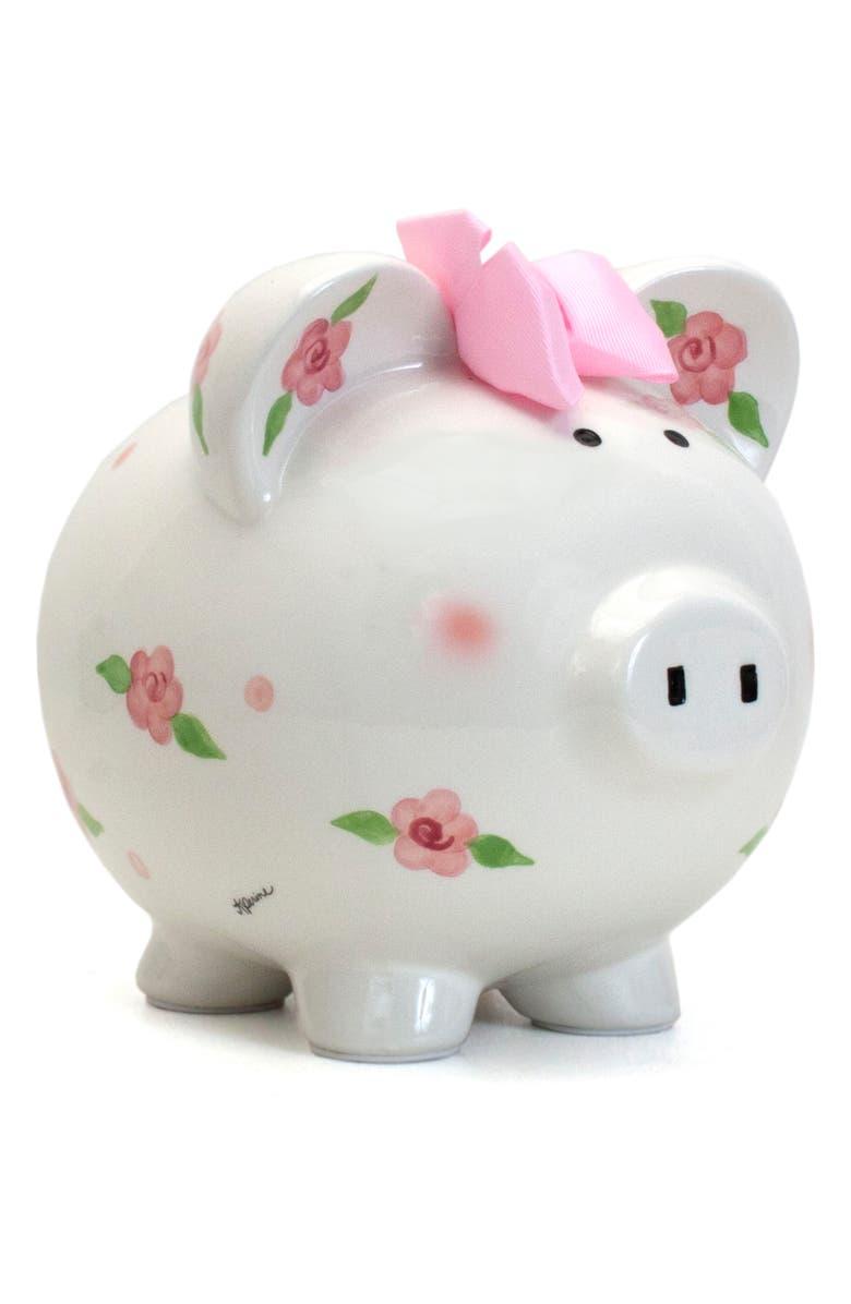 CHILD TO CHERISH Embellished Piggy Bank, Main, color, WHITE