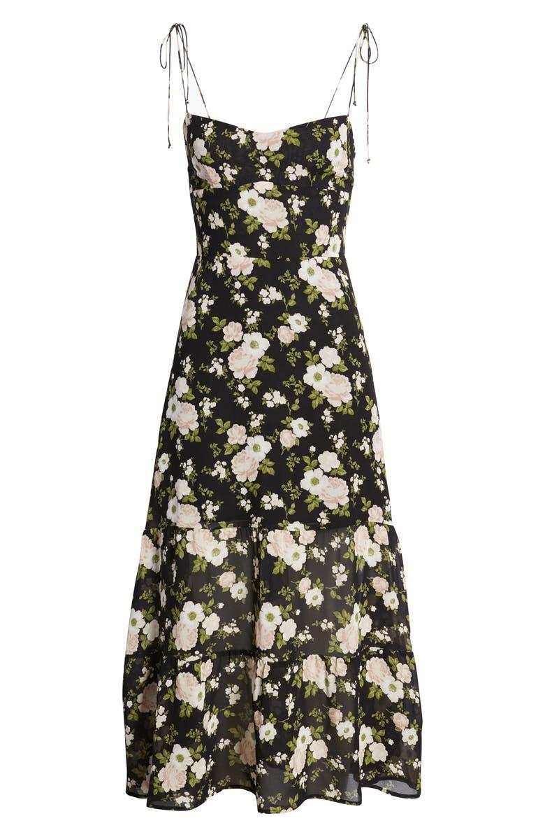 REFORMATION Emmie Floral Dress, Main, color, ELIZABETH