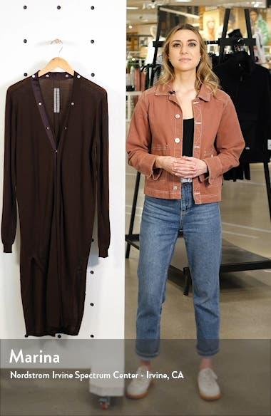 Long Wool Snap Cardigan, sales video thumbnail