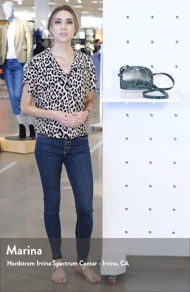 Sac Mini Half-Moon Leather Crossbody Tote, sales video thumbnail