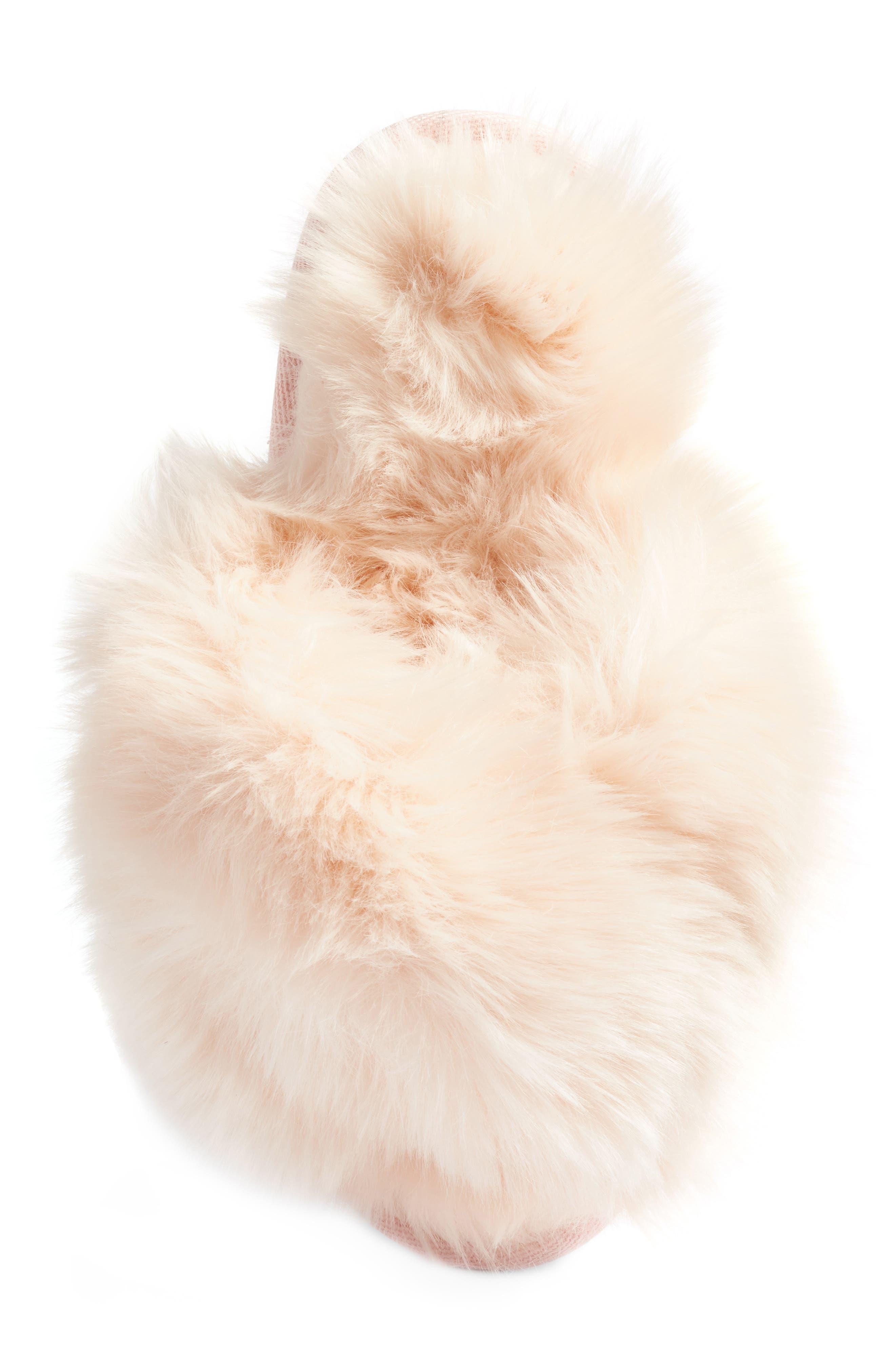 ,                             Cuddle Plush Faux Fur Scuff Slipper,                             Alternate thumbnail 19, color,                             650