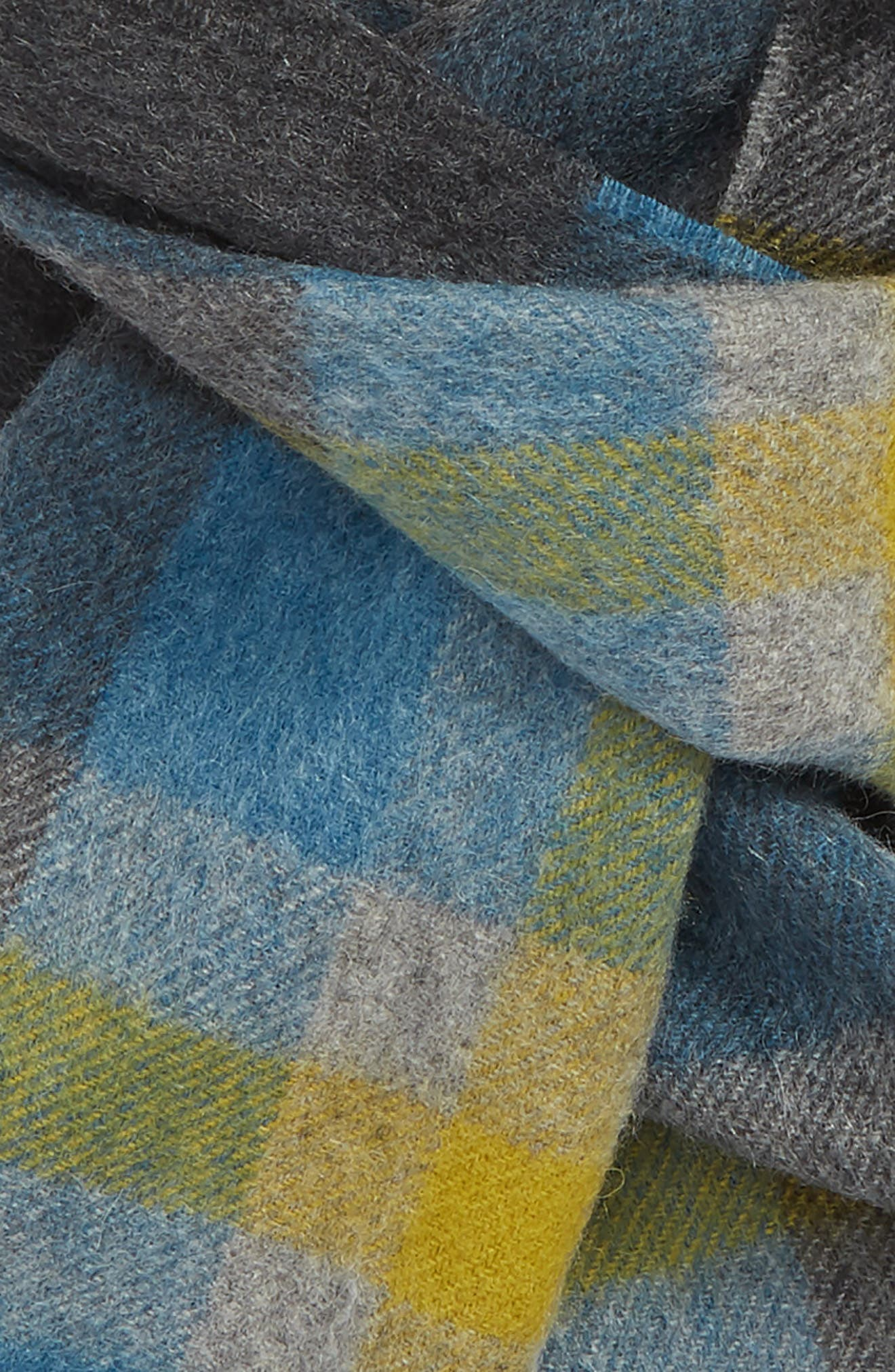 ,                             Tartan Cashmere Scarf,                             Alternate thumbnail 3, color,                             317