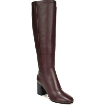 Diane Von Furstenberg Reese Knee High Boot- Burgundy
