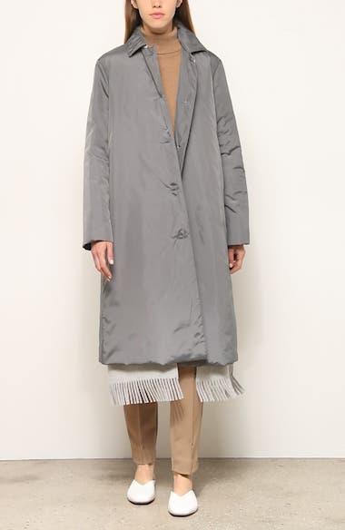 Dalida Fringe Hem Cashmere Lined Down Coat, video thumbnail