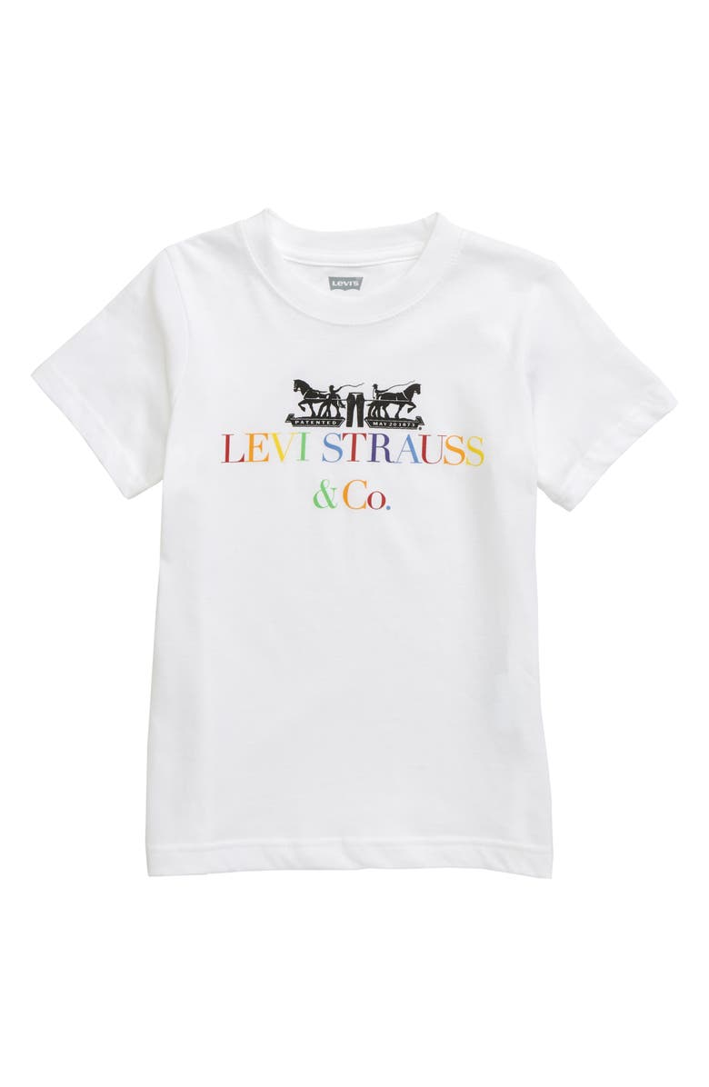 LEVI'S<SUP>®</SUP> Colorful Logo Graphic T-Shirt, Main, color, WHITE