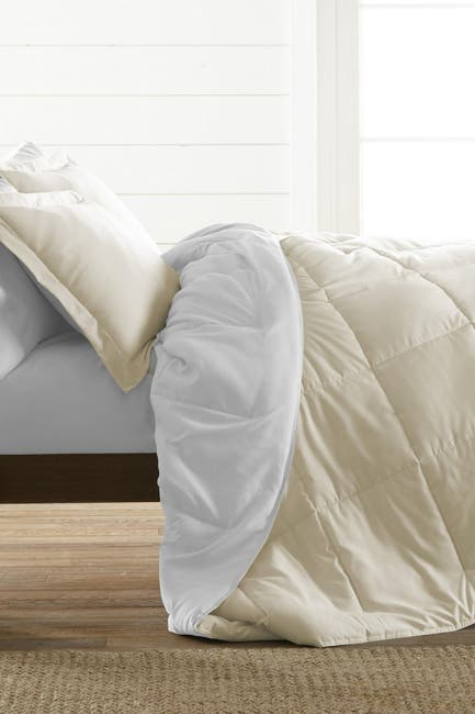 Image of IENJOY HOME Treat Yourself To The Ultimate Down Alternative Reversible 3-Piece Comforter Set - White - King