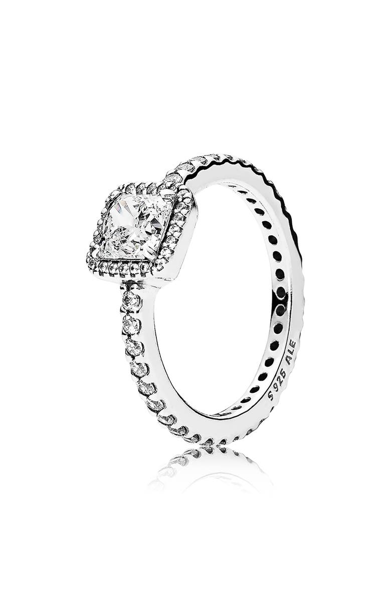 PANDORA Timeless Elegance Ring, Main, color, SILVER