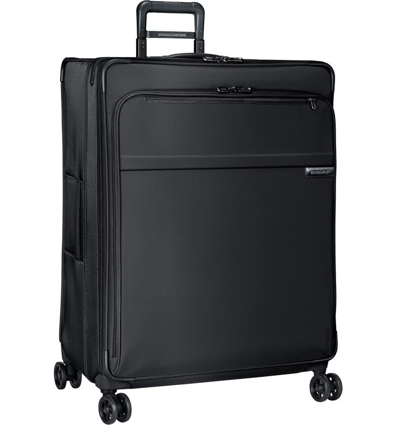 BRIGGS & RILEY Baseline 31-Inch Extra Large Expandable Spinner Packing Case, Main, color, BLACK