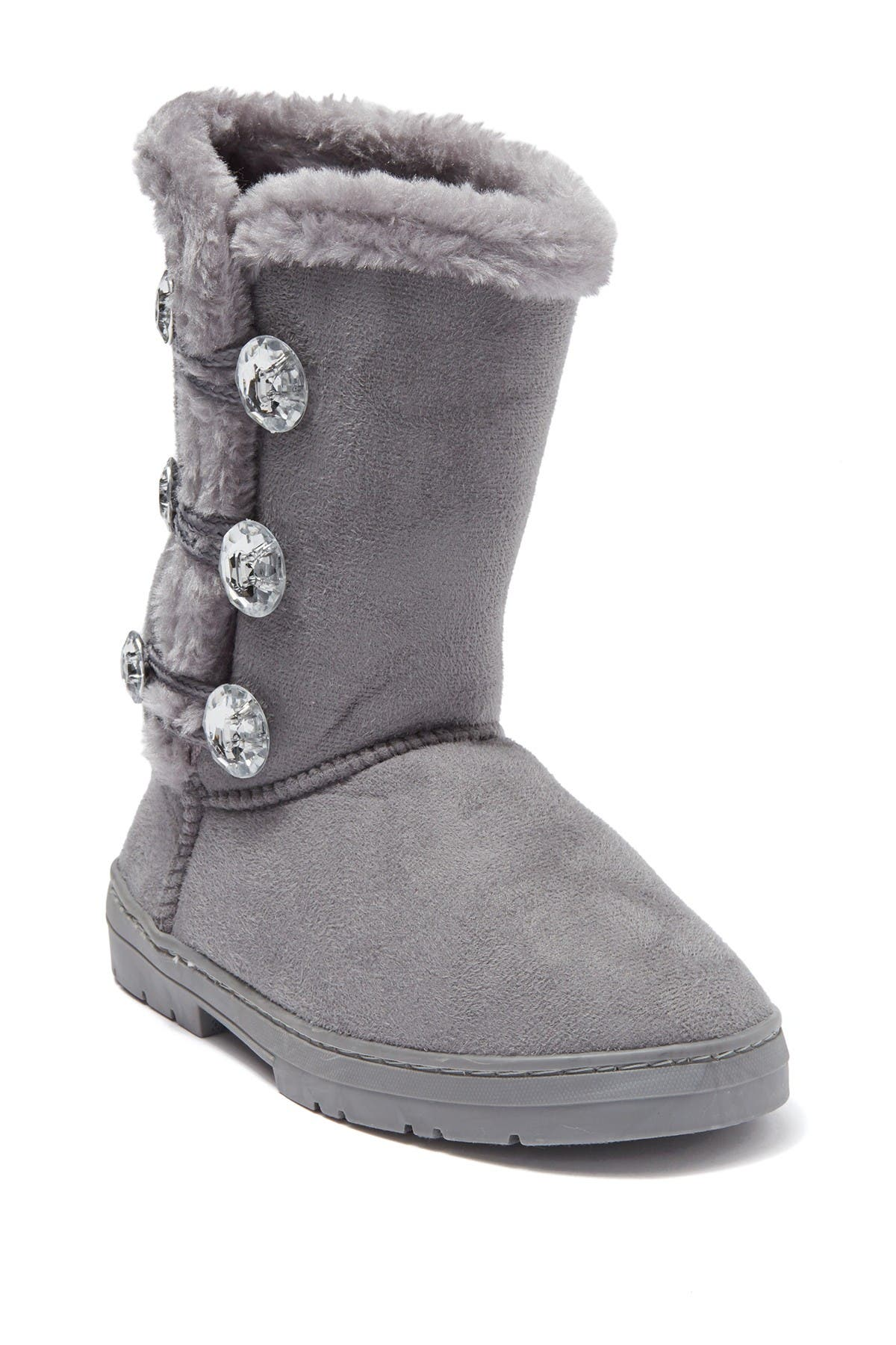 Image of bebe Jewel Button Faux Fur Lined Winter Boot