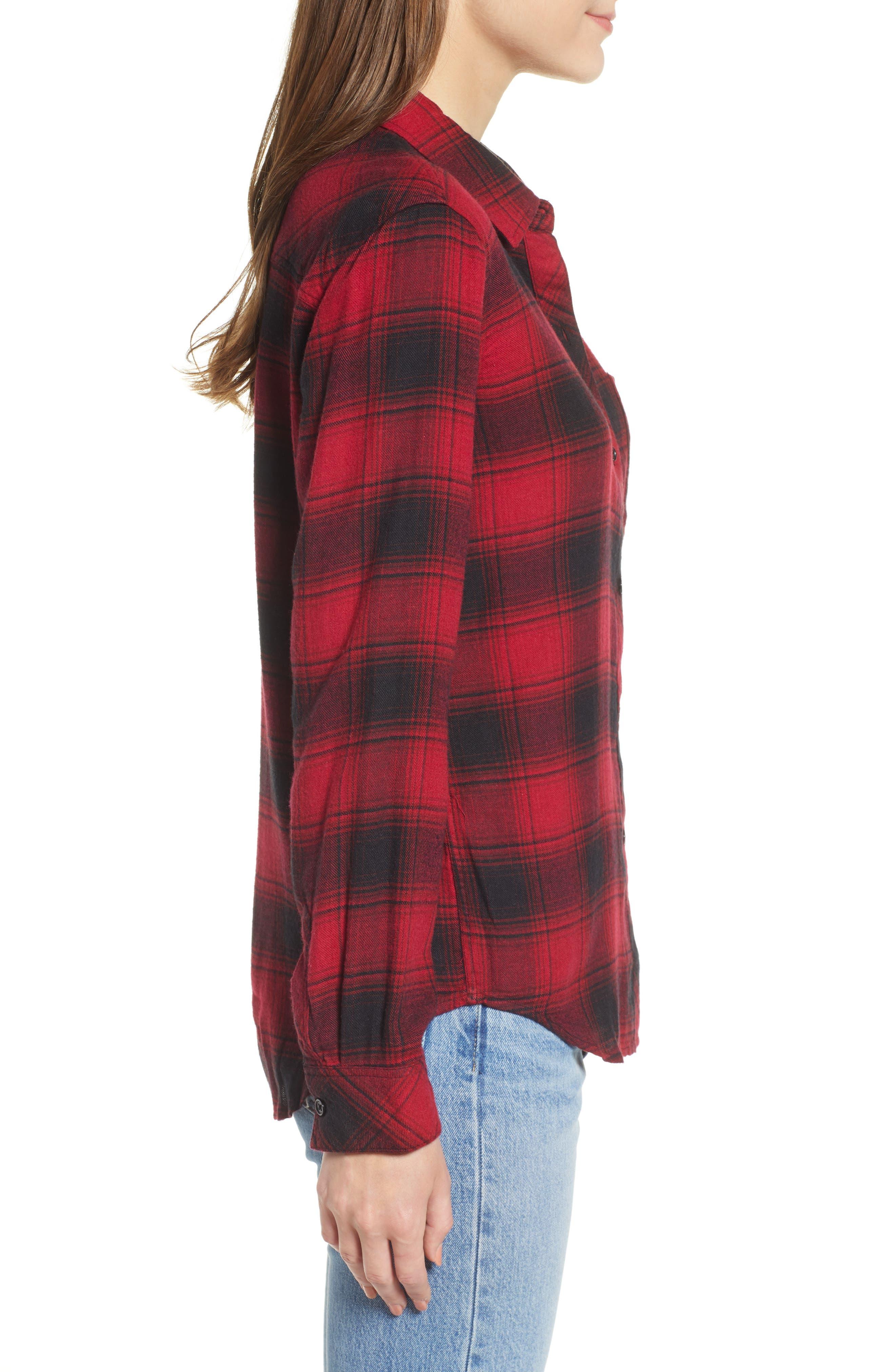 ,                             Hunter Plaid Shirt,                             Alternate thumbnail 219, color,                             011