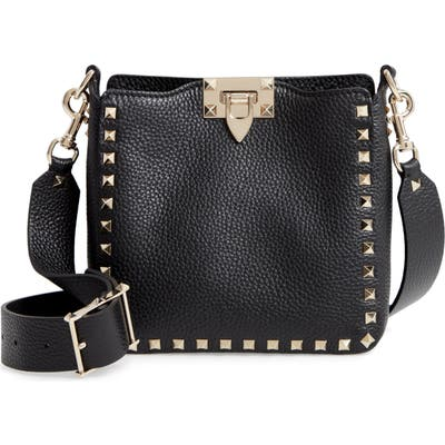 Valentino Garavani Rockstud Mini Hobo Crossbody Bag - Black