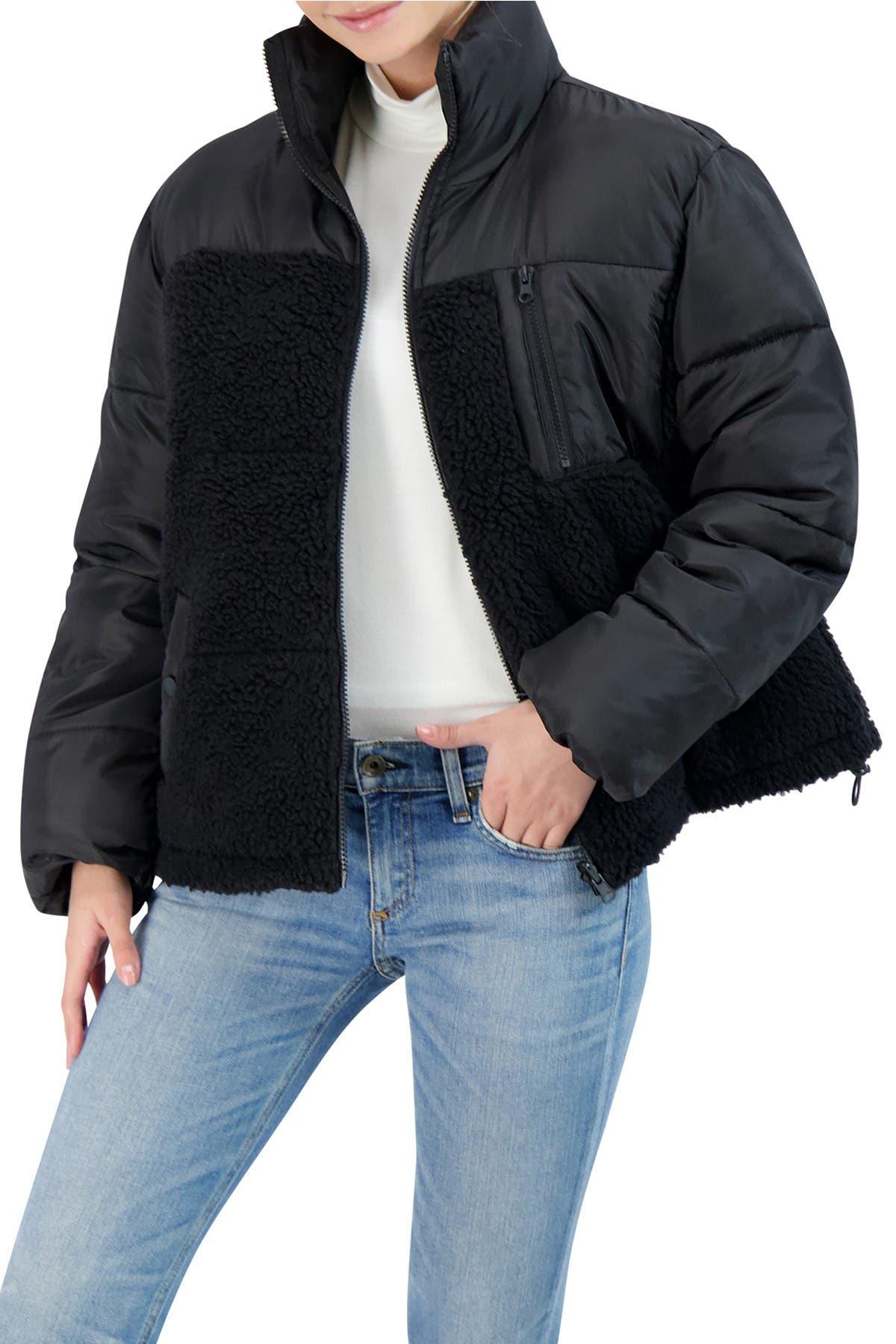 Sebby Faux Shearling Trimmed Puffer Jacket