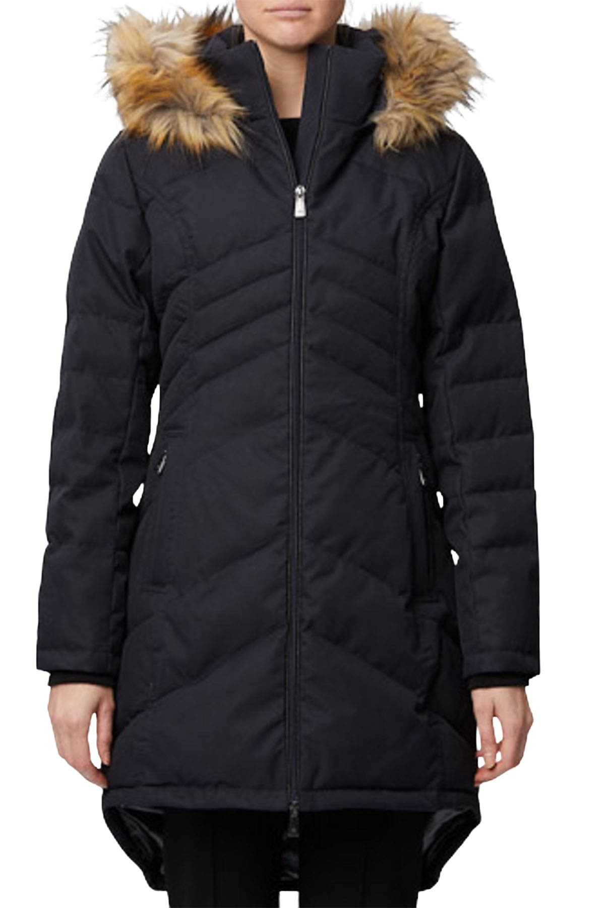 Image of Rainforest Oxford Nylon Quilted Faux Fur Thermoluxe Parka