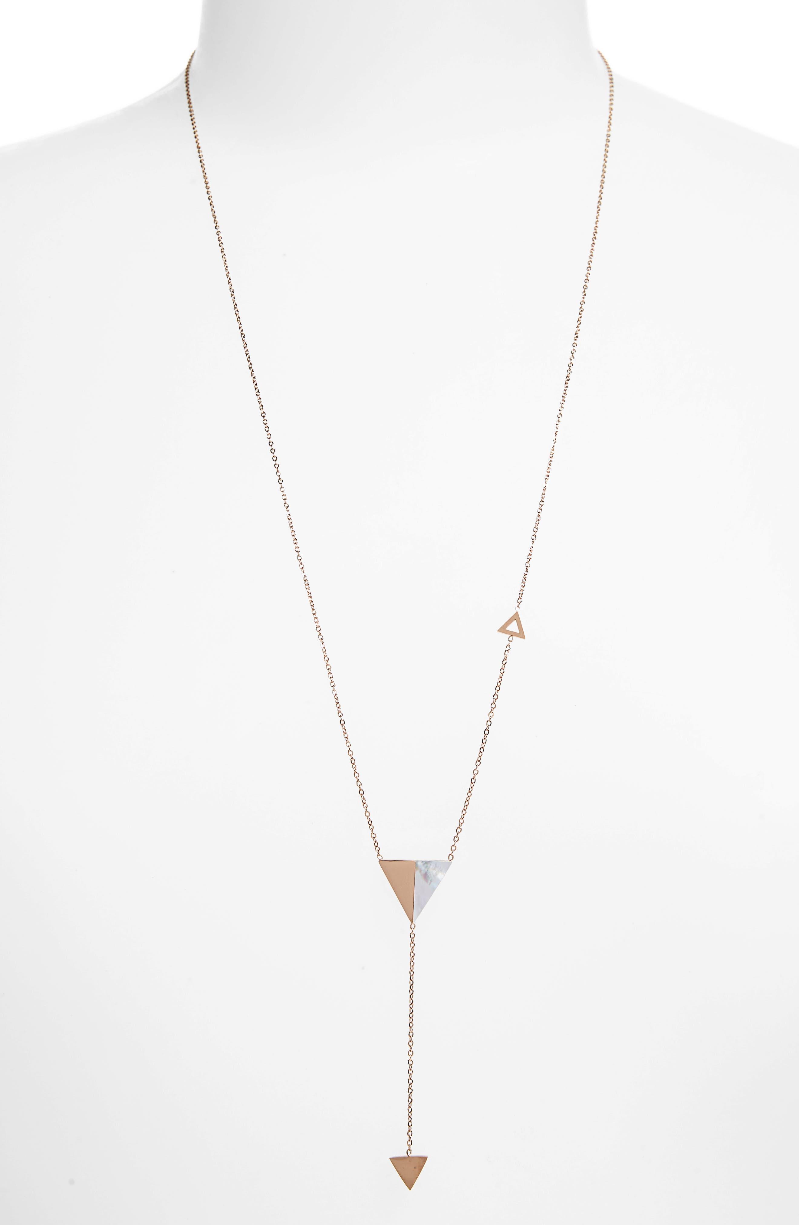 Triangle Pendant Drop Y-Necklace