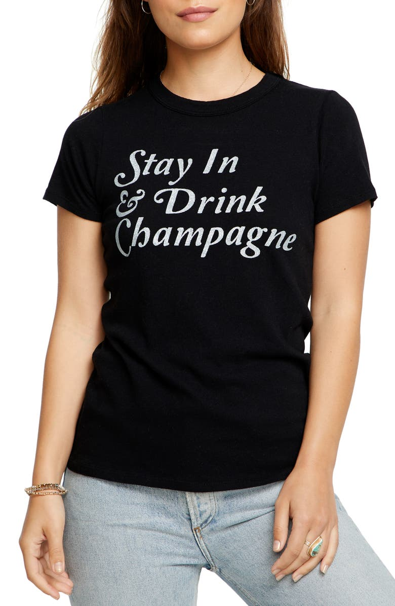CHASER Stay In Graphic Tee, Main, color, TRUE BLK
