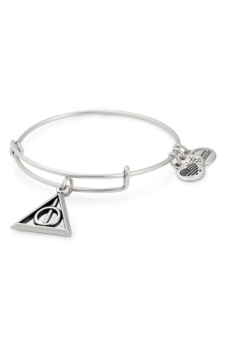 ALEX AND ANI Harry Potter<sup>™</sup> Deathly Hallows<sup>™</sup> Adjustable Wire Bangle, Main, color, 040